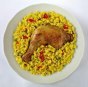 Cuban cuisine - Arroz con pollo (rice with chicken)