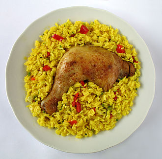 Cuban cuisine - Arroz con pollo (rice with chicken)