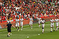 Arsenal squad warming up (4867510076).jpg