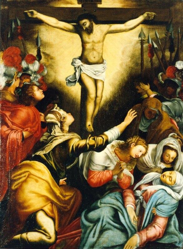 Artgate Fondazione Cariplo - (Scuola ferrarese, copia da Taddeo Zuccari - XVI), Crocifissione