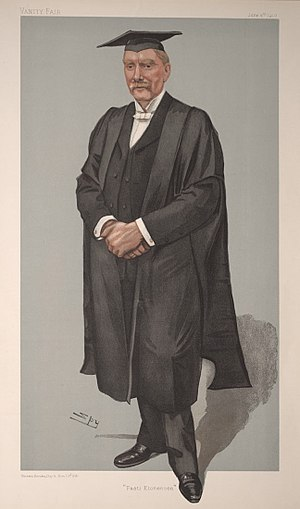 "A. C. Benson - ""Fasti Etonenses"", Benson caricatured by Spy for Vanity Fair, 1903."