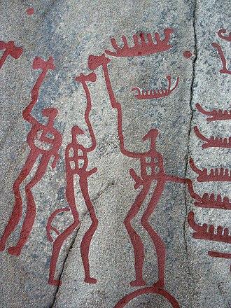 Swedish art - Pre-historic petroglyphs in Tanum