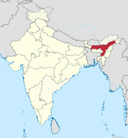 Assam in India (disputed hatched).svg