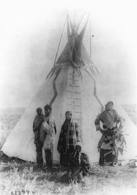 Assiniboine family, Montana, 1890-91