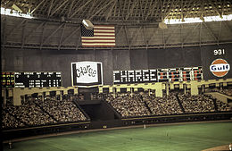 Astrodome wikivisually astrolite the astrodomes scoreboard during a 1969 astros game it was the worlds first animated scoreboard malvernweather Images
