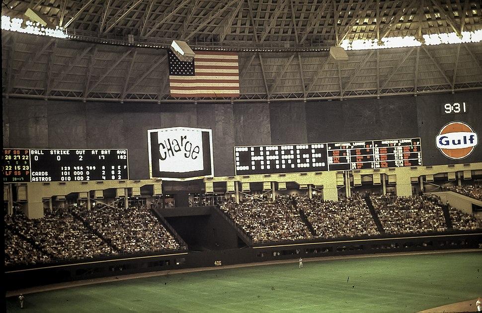 Astrodome scoreboard 1969
