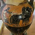Attic amphora, 520-500 BC, quadriga and charioteer, AM Agrigento, 121001.jpg