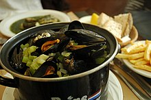 Moules Frites (Mussels and French fries)
