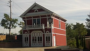 National Register of Historic Places listings in Placer County, California - Image: Auburn Fire House No 1 2012 09 16 16 18 57