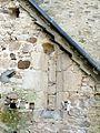 Auger-Saint-Vincent (60), église Saint-Caprais, chapelle latérale nord (sacristie), meurtrière bouchée.JPG