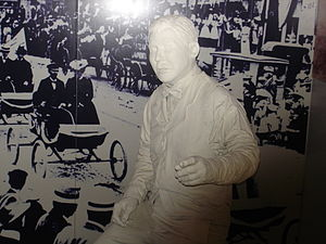 Wax figure of Ransom E. Olds at the Automotive Hall of Fame