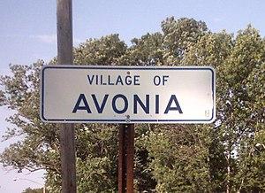 Avonia, Pennsylvania - Avonia Village, PA sign