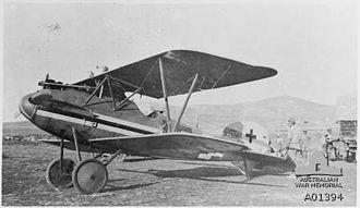 Capture of Jenin - Albatros D.VA Serial 7416/17 with white/black/white stripe and intermediate type national insignia captured at Jenin