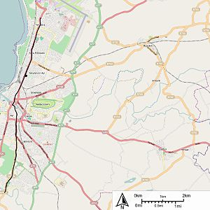 Ayr Corporation Tramways - Map of the route of Ayr Corporation Tramways