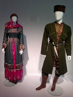 Sherwani - Azerbaijani national dress from Shirvan region which may also be a source of Sherwani
