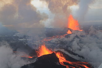 2014–2015 eruption of Bárðarbunga - Eruption at Holuhraun, September 4, 2014