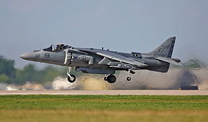 Powered lift - AV-8B Harrier II