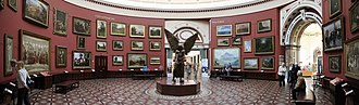 Birmingham Museum and Art Gallery - The Round Room including Jacob Epstein's The Archangel Lucifer (1944–45).