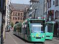 BVB Tram car 322, line 8 towards Neuweilerstrasse at Basel, Switserland p01.JPG