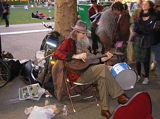 Baby Gramps - Busking at Northwest Folklife
