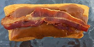 Maple bacon donut - A bacon maple long john from Doomsday Donuts in Ripon, Wisconsin