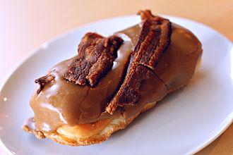 Bacon mania - A Bacon Maple Bar from Voodoo Doughnut in Portland, Oregon