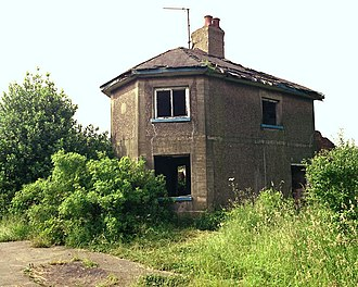 Leicester and Swannington Railway - The incline-keeper's house at the top of Bagworth incline in 1985, before it was allowed to fall down.