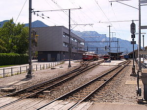 Landquart railway station - Platforms 5, 6, 7 and 8: RhB platforms