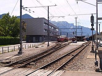 Landquart railway station - Platforms 5, 6, 7 and 8: RhB platforms