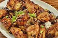 Baked wings with a soy-honey glaze (10890372824).jpg