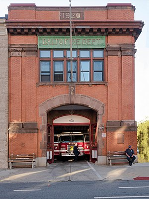 Baltimore City Fire Department - Engine Company 2, 800 Light Street (Taken October 2015)