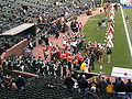 Band of the Hour arrives at AT&T Park for 2008 Emerald Bowl.JPG