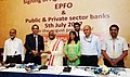 Bandaru Dattatreya at the signing of the agreement between EPFO and public and private sector banks for Multiple Banking System for EPFO contribution and payments, in New Delhi (1).jpg