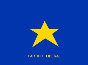 Liberal Party (Chile, 1998) - Image: Bandera Partido Liberal 2001
