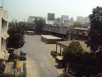 Bus garage - A BEST Bus depot in Bandra, Mumbai