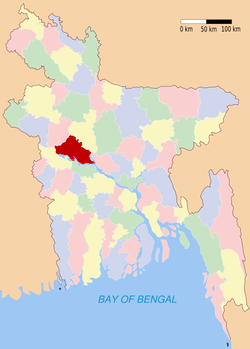 Location of Pabna in Bangladesh