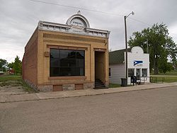 Bank and post office in Fingal, North Dakota