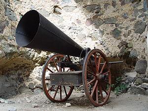 Hail cannon - Hail cannon in Banska Stiavnica (Slovakia) Old Castle. Probably designed by Julius Sokol