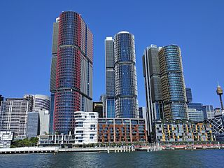 International Towers Sydney Three commercial skyscrapers in central Sydney, in the Barangaroo area