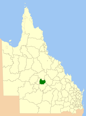 Shire of Barcaldine - Location within Queensland