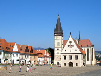 Bardejov - Central square with the Church of St. Aegidius