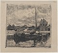 Barges Anchored by the Wharf MET DP876326.jpg