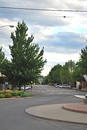 La grand rue de Barraba.