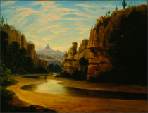 Bartlett Survey Party Traversing a Canyon by Henry Cheever Pratt.png