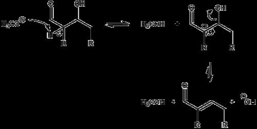 Mechanismus der basenkatalysierten Aldolkondensation