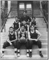 Basketball team on Home 1 Steps, 1909 - NARA - 251717.tif