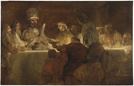 The Conspiracy of the Batavians under Claudius Civilis by Rembrandt van Rijn Bataafseeed.jpg
