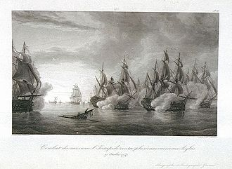 George Brydges Rodney, 1st Baron Rodney - The Second Battle of Cape Finisterre in October 1747.
