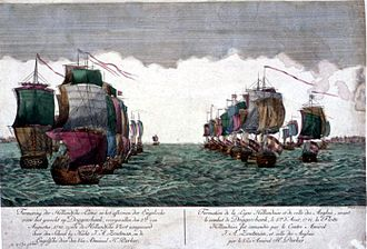 Battle of Dogger Bank (1781) - Depiction of the Dutch line August 5, 1781.