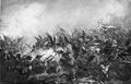 Battle of Kircholm 1605, choragiew of Jan Gniewosz assault.PNG